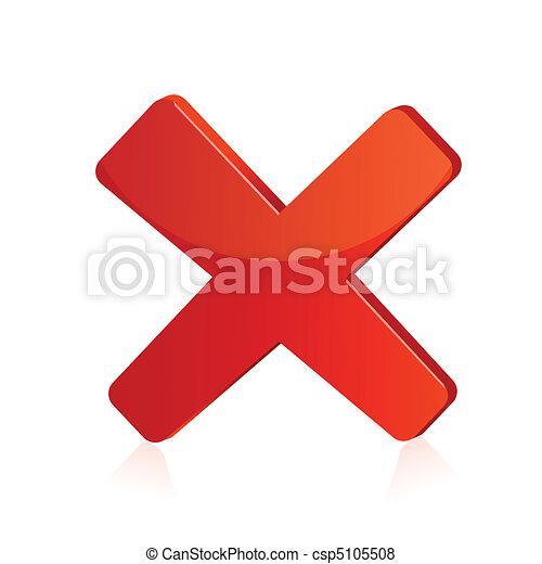 isolé, illustration, signe, fond, croix, rouges - csp5105508
