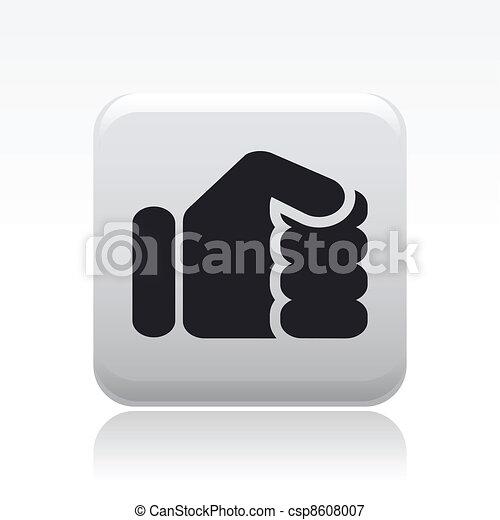 isolé, illustration, unique, vecteur, poing, icône - csp8608007