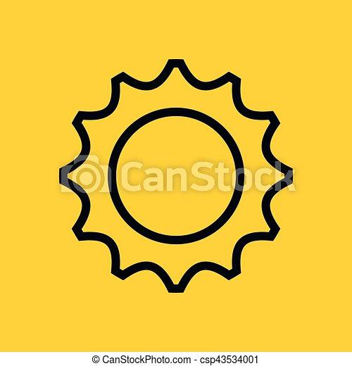 isolé, monture, engrenage, icône - csp43534001