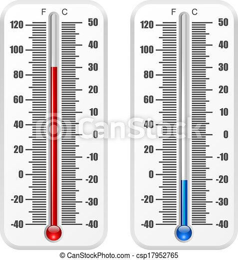 isolé, norme, arrière-plan., vecteur, gabarit, thermomètre, blanc - csp17952765