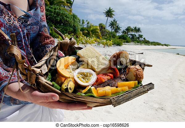 isola, cibo, abbandonato, tropicale - csp16598626