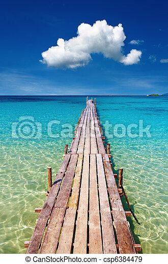 isola, legno, kood, banchina, tailandia - csp6384479