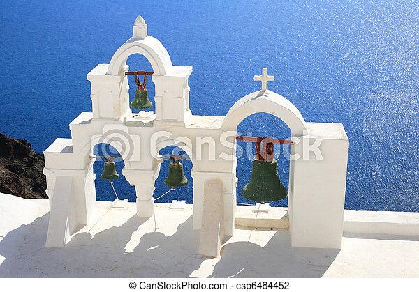 isola, santorini, grecia - csp6484452
