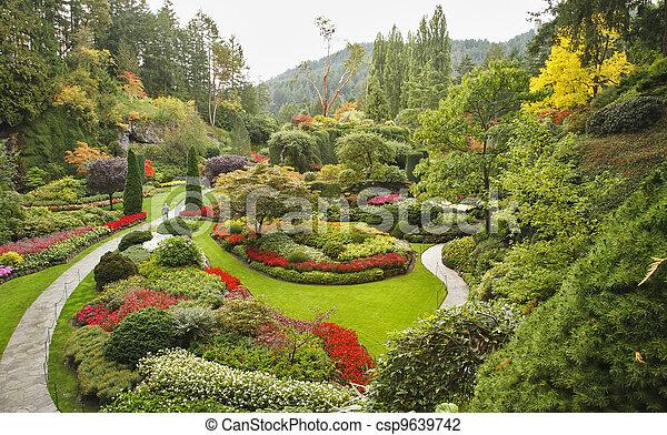 isola, sunken-garden, vancouver - csp9639742