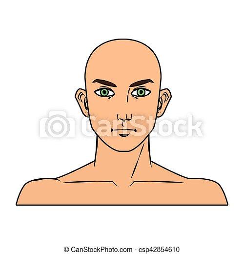 Isolado Homem Desenho Caricatura Rosto Homem Pessoas