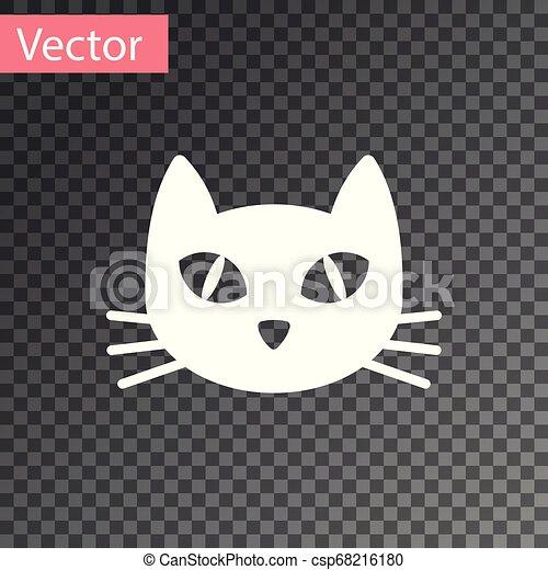 isolado, ilustração, gato, experiência., vetorial, branca, transparente, ícone - csp68216180