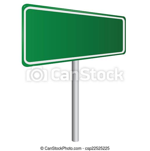isolado, sinal, verde, em branco, branca, estrada - csp22525225