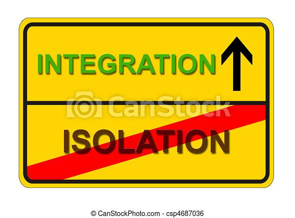 isolamento, integração - csp4687036