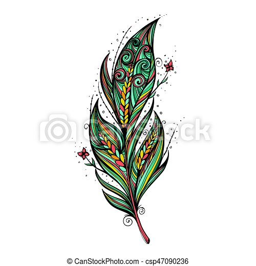Isolate feather icon vector illustration - csp47090236