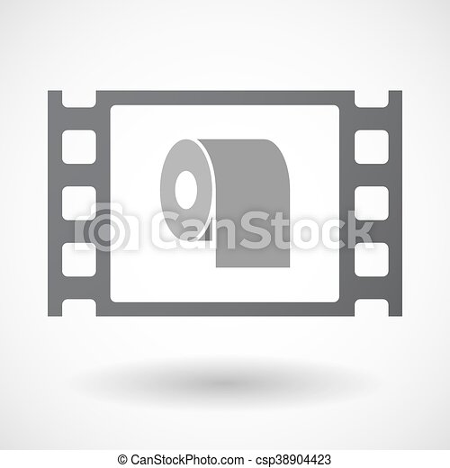 Isolated 35mm film frame with a toilet paper roll. Illustration of ...