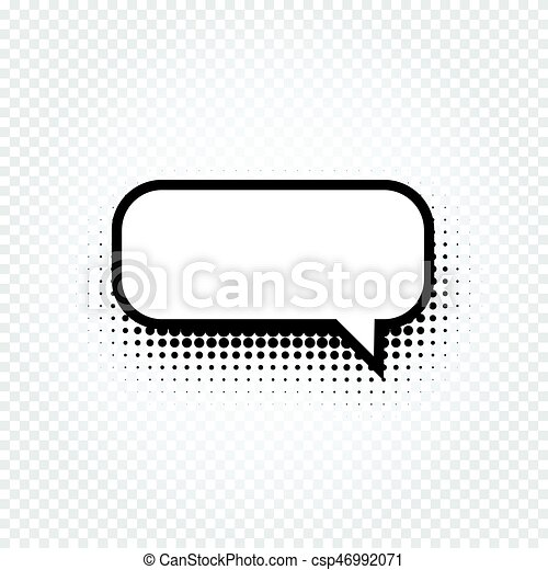 Isolated abstract black and white color comic speech balloon icon on ...