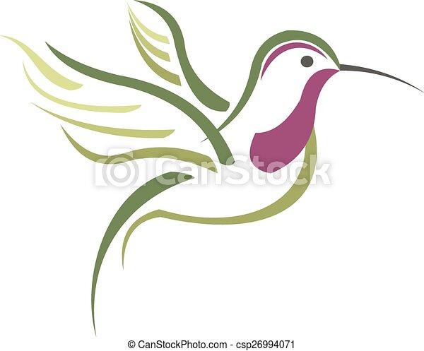Isolated abstract humming bird - csp26994071