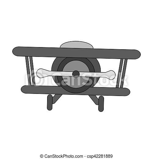 Isolated airplane toy design - csp42281889