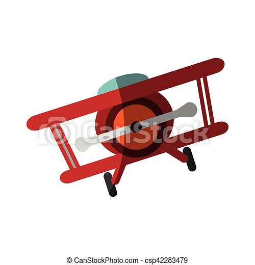 Isolated airplane toy design - csp42283479
