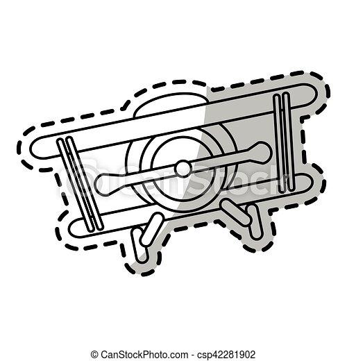 Isolated airplane toy design - csp42281902