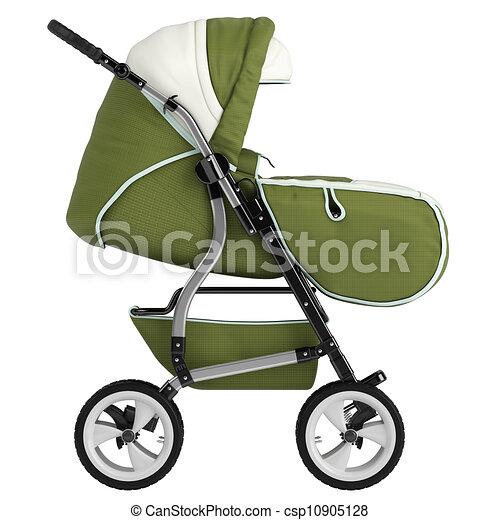 Isolated baby pram - csp10905128