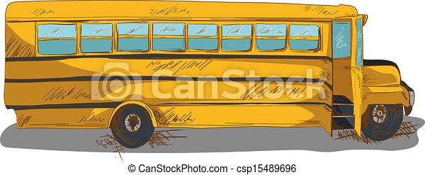 Isolated Back To School Bus Education Cartoon Illustration