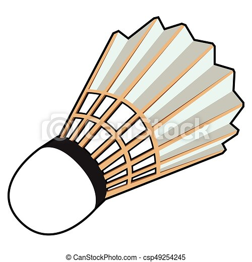 isolated badminton shuttlecock isolated comic badminton eps rh canstockphoto com badminton clip art black & white badminton clipart image