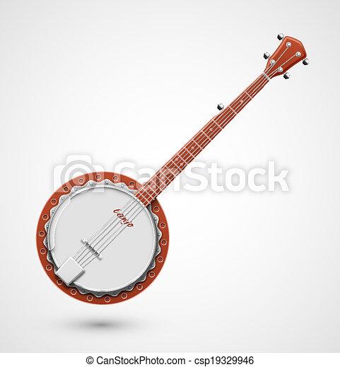 Isolated banjo - csp19329946
