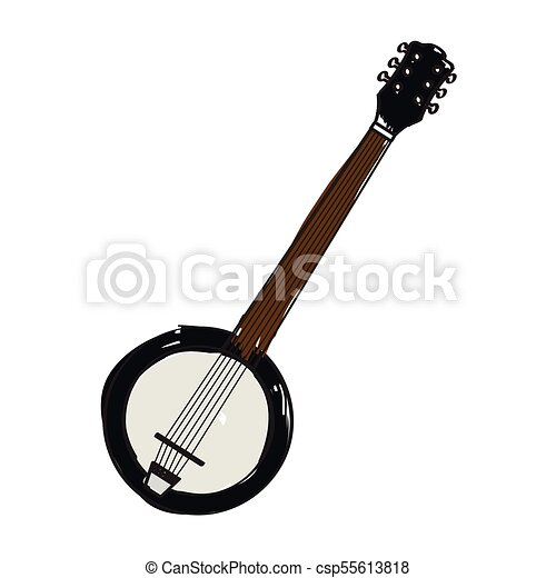 Isolated banjo icon. Musical instrument - csp55613818