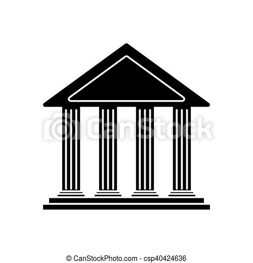 isolated bank building design bank building icon financial rh canstockphoto com clip art bank teller clip art banker