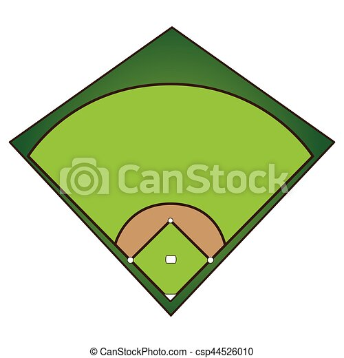 isolated baseball field on a white background vector vector clip rh canstockphoto com baseball field vector art baseball field vector images