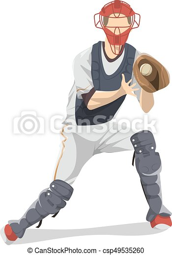 isolated baseball player isolated baseball player with clip art rh canstockphoto com baseball player clipart silhouette clipart baseball player