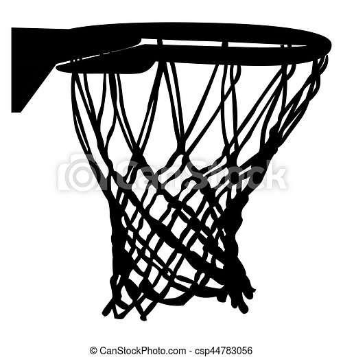 isolated basketball net on a white background vector illustration rh canstockphoto com basketball hoop clipart black and white basketball net clipart vector
