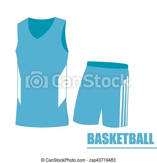 71552cb7eb0c Isolated basketball uniform on a white background