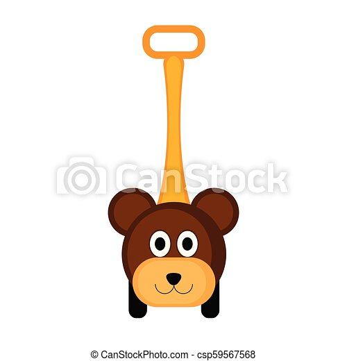 Isolated bear toy icon - csp59567568