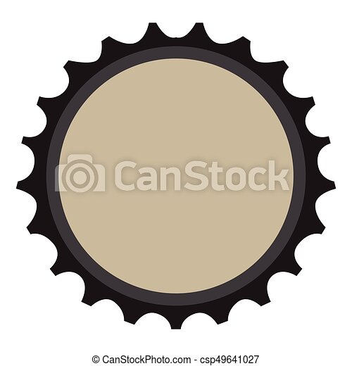 isolated beer bottle cap on a white background vector vector rh canstockphoto com vintage bottle cap vector pepsi bottle cap logo vector
