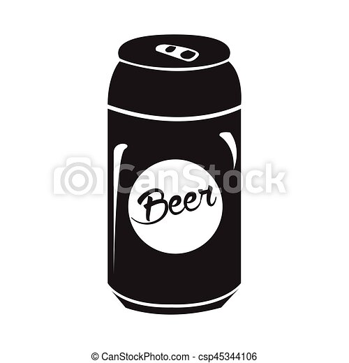 isolated beer can silhouette isolated silhouette of a beer can rh canstockphoto com beer can vector image beer can vector free