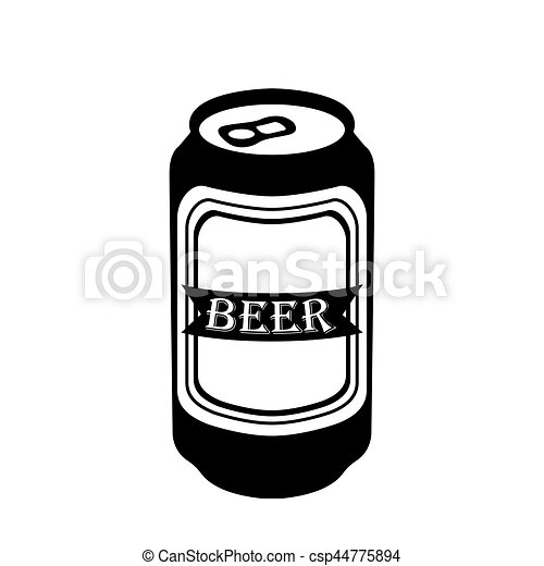 isolated beer icon isolated silhouette of a beer can vector rh canstockphoto com beer can vector free download beer can vector art