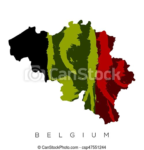 Isolated Belgian map - csp47551244