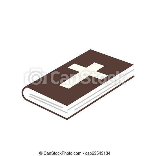 Isolated bible icon - csp63543134
