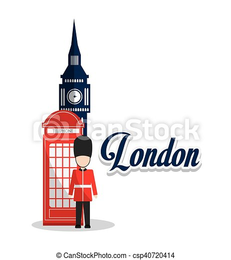 isolated big ben telephone and soldat design big ben telephone and rh canstockphoto ca