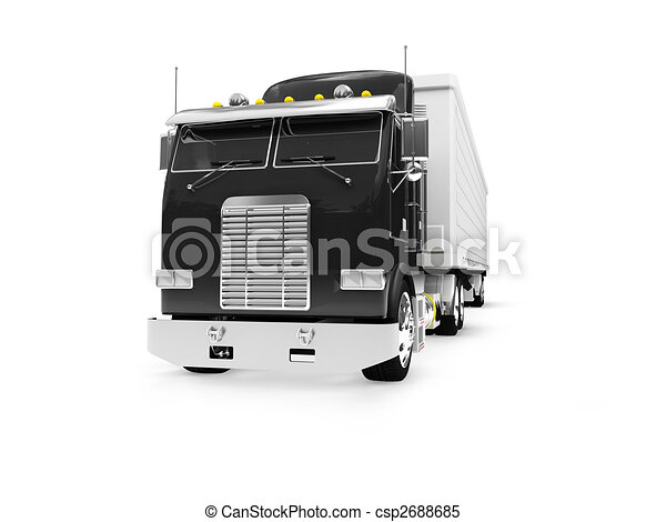 isolated big car front view 01 - csp2688685