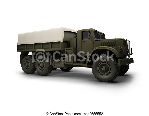 isolated big car front view - csp2655552