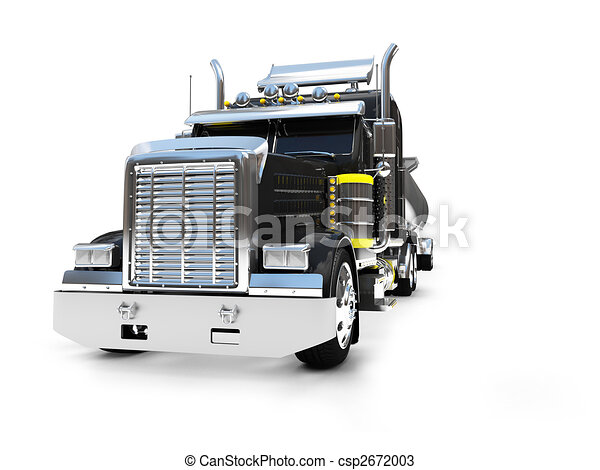 isolated big car front view - csp2672003
