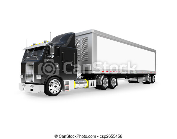 isolated big car front view - csp2655456