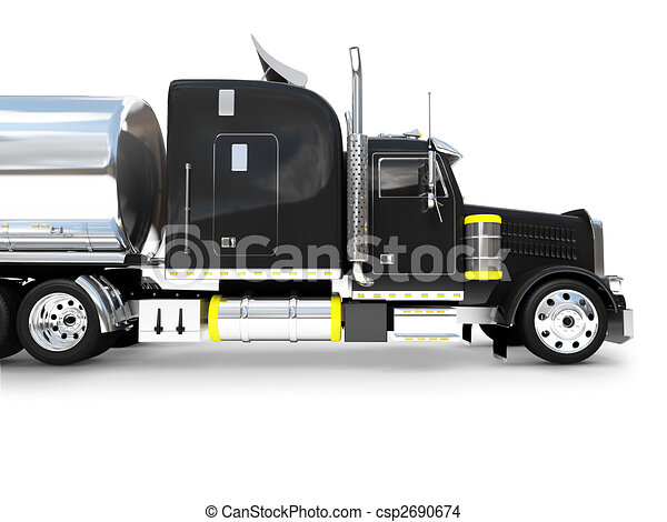 isolated big car side view 02 - csp2690674