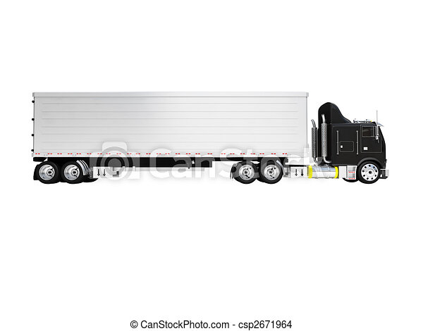 isolated big car side view - csp2671964
