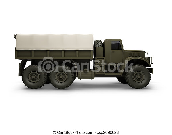 isolated big car side view - csp2690023
