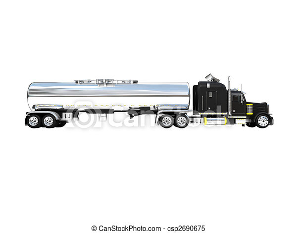 isolated big car side view - csp2690675