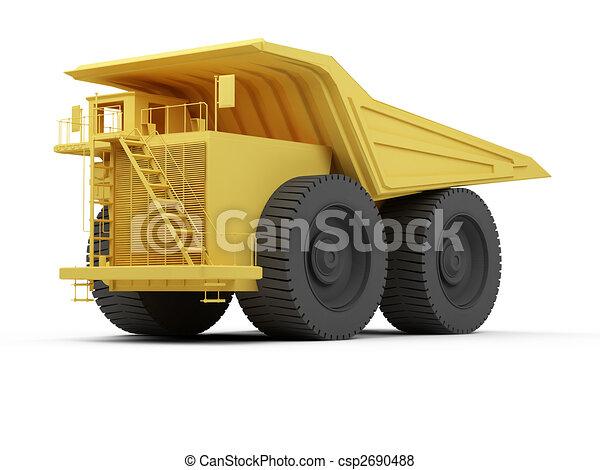 Isolated big dump truck - csp2690488