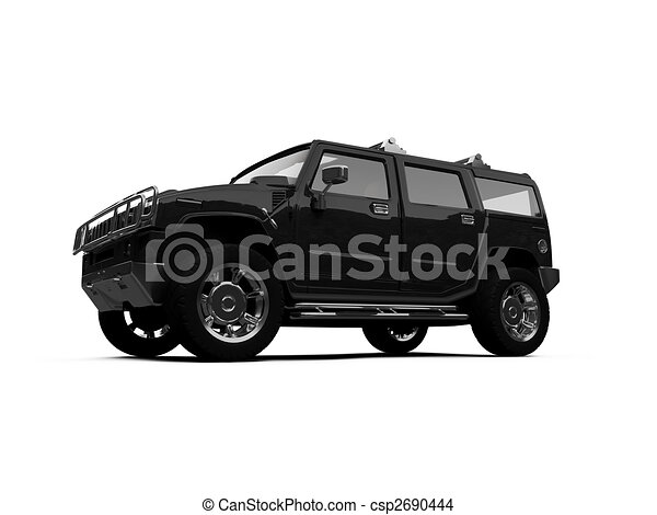 isolated big jeep view - csp2690444