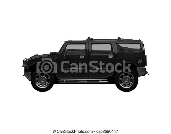 isolated big jeep view - csp2690447