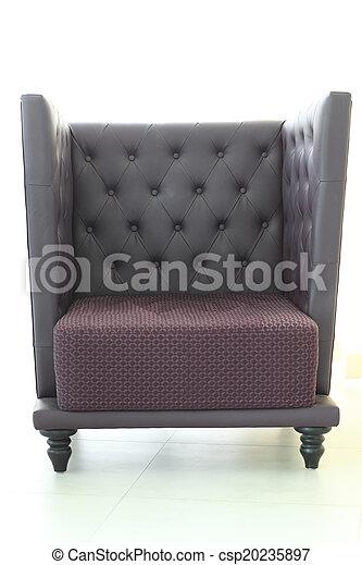 Isolated big sofa furniture overwhite background
