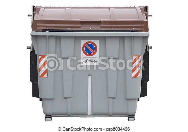 isolated big trash dumpster - csp8034436