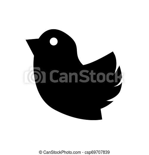 Isolated bird icon on a white background - csp69707839